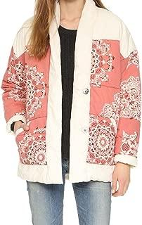 Printed Quilted Poplin Jacket
