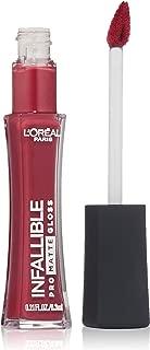 L'Oréal Paris Infallible Lip Pro Matte Gloss, Rouge Envy, 0.21 fl. oz.
