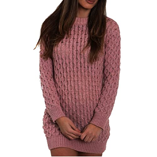 New Women/'s Ladie/'s Polo High Neck Check Print Knitted Short Mini Jumper Dresses