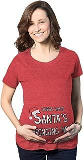 Maternity Guess What Santas Bringing Holiday Funny Christmas Pregnancy T Shirt