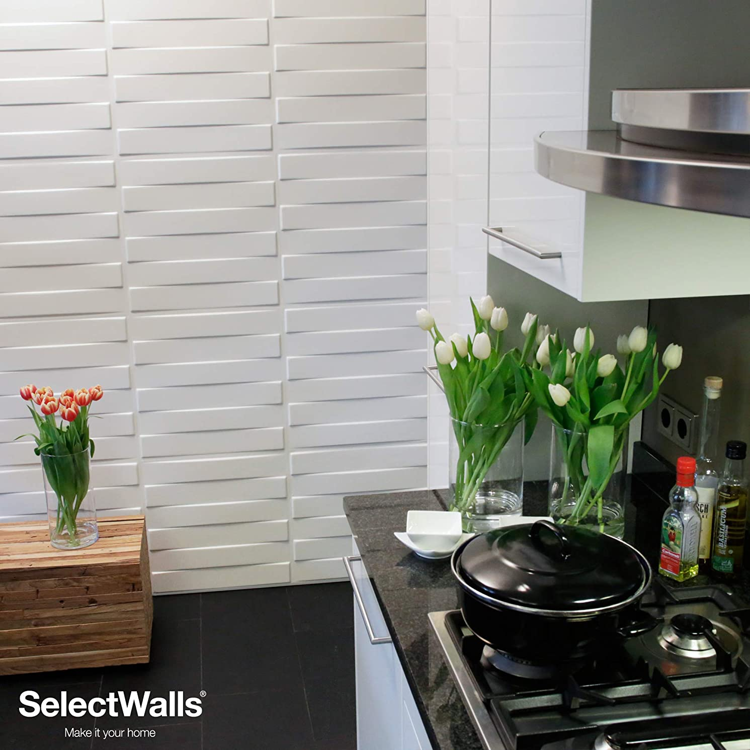 3D Wall Wood Panels from MDF Wood (10/Box) 27 sqft- FINN Wall Paneling Design.