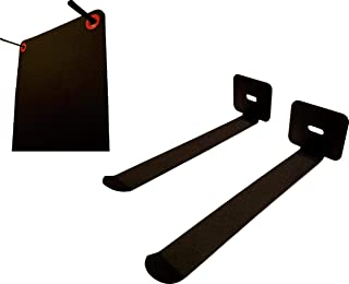 OMEGA Multi-Purpose (STEEL) Yoga/Exercise Mat Storage Hangers - (MADE IN USA) Hangs 8+ Mats & Yoga Accessories - Mats Not Included - Hangs Yoga Blocks, Foam Rollers, Gym Mats (HARDWARE INCLUDED)