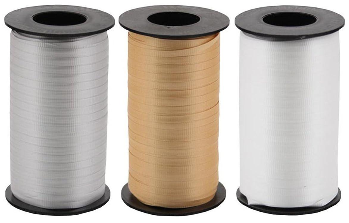 Metals 3-Pack Bundle of Berwick Splendorette Crimped Curling Ribbon - Gold, Silver & White - 500 yards each kwc153705139456
