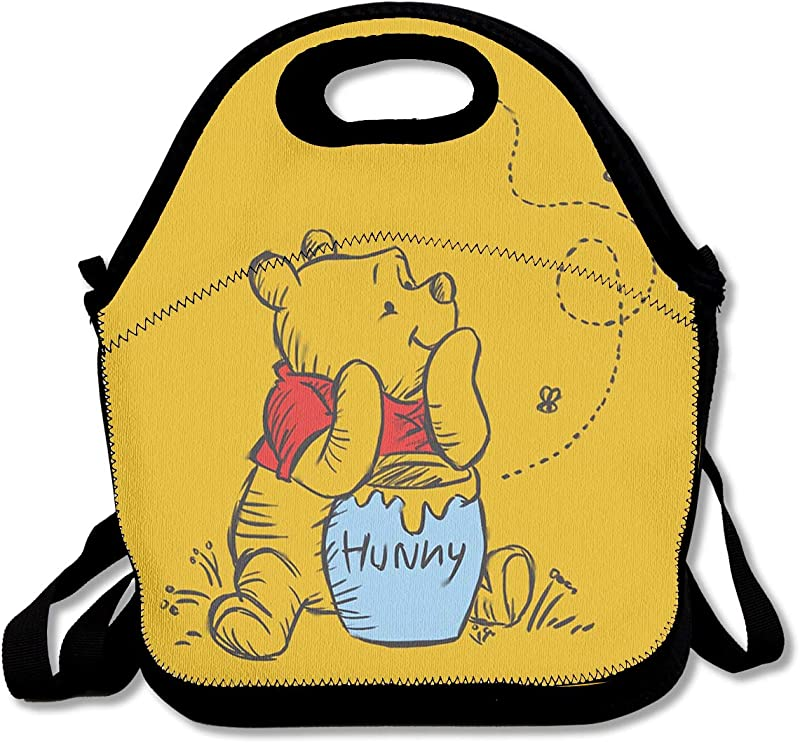 LIUYAN Personalized Lunch Boxes Winnie The Pooh Mom Bag For Women Men Kids