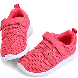 hiitave Toddler Shoes Boys Girls Lightweight Breathable Sneakers Washable Strap Athletic Tennis Shoes for Running Walking