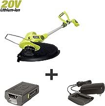 Sun Joe 20VIONLTE-ST11 20-Volt Amp Cordless 11-Inch Swath String Trimmer + Edger, Kit (w/2.0-Ah Battery + Quick Charger)