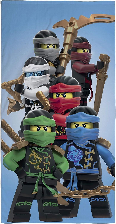 Ninjago LEGO Toalla de playa de terciopelo, 70 x 140 cm, toalla de ducha, toalla de baño, toalla de mano, 100 % algodón Lloyd Kai Zane Cole NYA Jay Assemble