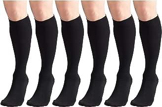 جوارب ضغط 30-40 مم زئبق للرجال والنساء، طول يصل إلى الركبة، مغلقة من الأمام (6 عبوات)