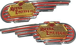 Royal Enfield Chromed Petrol Tank Decal Badges