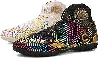 KKLT Zapatos de fútbol para hombre, para jóvenes Fg/tf entrenamiento con tacos antideslizantes, unisex al aire libre profe...