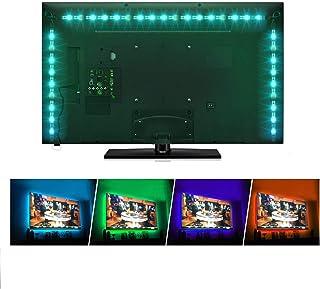 Sunnest TV Backlight Light Kit, 6.56FT/2M 5V USB LED Lights Strips 5050 RGB Bias Lighting..