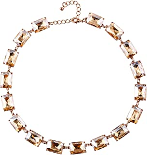 DL DiLiCa Women Statement Acrylic Crystal Necklace, Girl Novelty Costume Chain Bib Necklace Jewelry