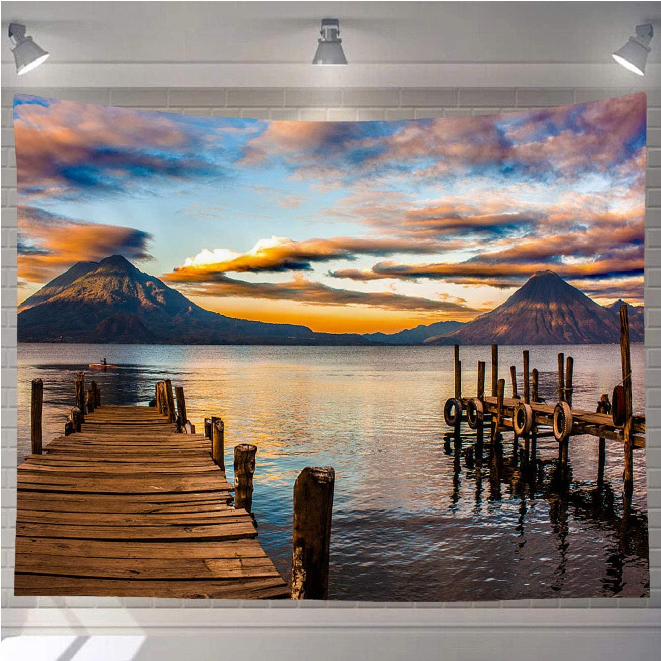 4 years warranty OTTOSUN Lakes Tapestry Wall Sale Special Price Atitlan Mountains Hanging Guatemala