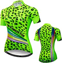 Women's Cycling Jersey Tops Summer Short Sleeve Full-Zip Clothing Bike Shirt