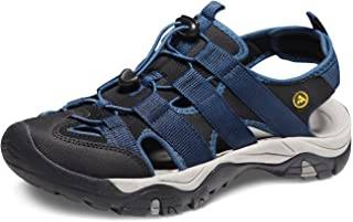 ATIKA Mens Sports Sandals Trail Outdoor Water Shoes 3Layer Toecap