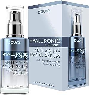 AZURE Hyaluronic & Retinol Anti Aging Facial Serum - Hydrating, Anti Aging & Rejuvenating | Reduces Wrinkles, Fine Lines &...