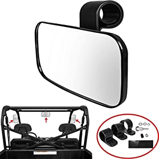 Sporthfish Adjustable UTV Clear Rear View Center Mirror, Center/Side Mirror High Impact ABS Housing with Shatter-Proof Tempered Glass Mirror