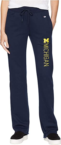 Michigan Wolverines University Fleece Open Bottom Pants