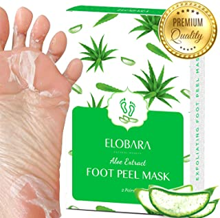 Foot Peel Mask, 2 Pack, Exfoliating Dead Skin and Calluses for Baby Soft Feet, Smooth Silky Skin, Repair Cracked Heels Pai...