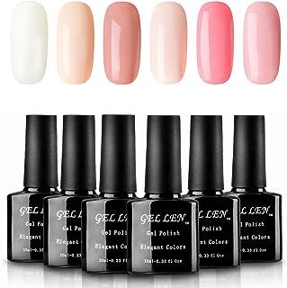 Gellen Warm and Sweet Colors UV Gel Polish Set - Apricot Pink Peach Colors Manicure Kit 10ml