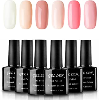 Gellen Warm and Sweet Colors UV Gel Polish Set - Apricot Pink Peach Colors Manicure Kit 10ml