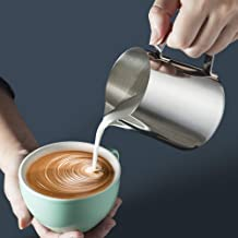 Stainless Steel Milk Frothing Pitcher, 5oz/150ml Milk Coffee Cappuccino Latte Art Frothing Pitcher Barista Milk Jug Cup