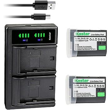Batería EN-EL15 EN-EL15a EN-EL15b 1900mAh para Nikon Digital SLR D800 Z 6 Z 7