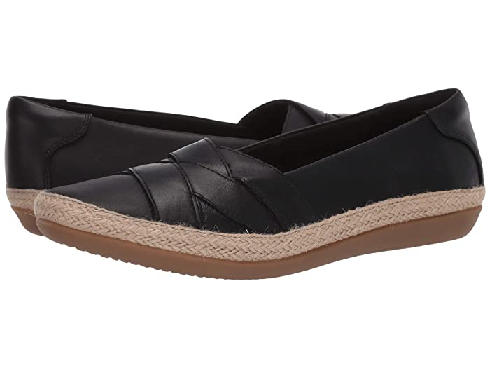 Clarks  Danelly Shine (Black Leather) Womens Shoes