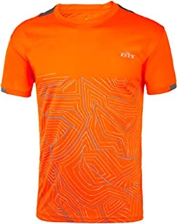 ZITY Mens Short Sleeve Shirt Print Moisture-Wicking Sports Top Quick Dry Athletic T-Shirts