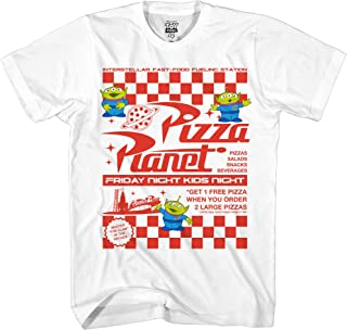 Pixar Toy Story Pizza Planet Take Out Flyer Disneyland World Tee Funny Humor Men's Graphic T-Shirt