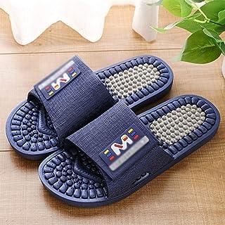 YAOLUU Summer Slippers Masaje Zapatillas for Hombres y Mujeres, Ducha baño Zapatos del Deslizador de acupresión Masaje San...