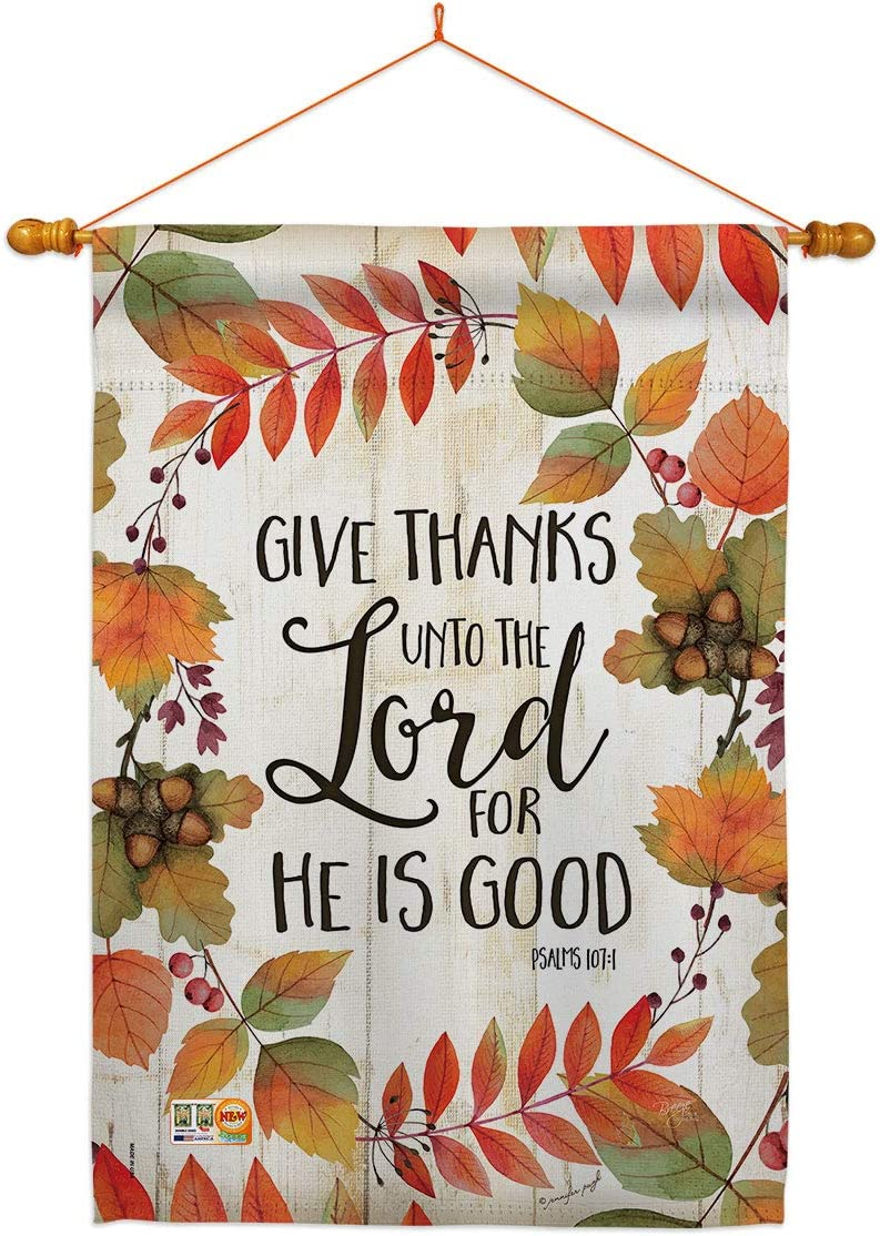 Breeze Decor Thanksgiving Give Thanks Unto Lord House D ランキング総合1位 激安格安割引情報満載 Flag The