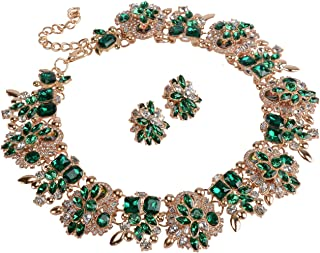 Best emerald green and gold necklace Reviews