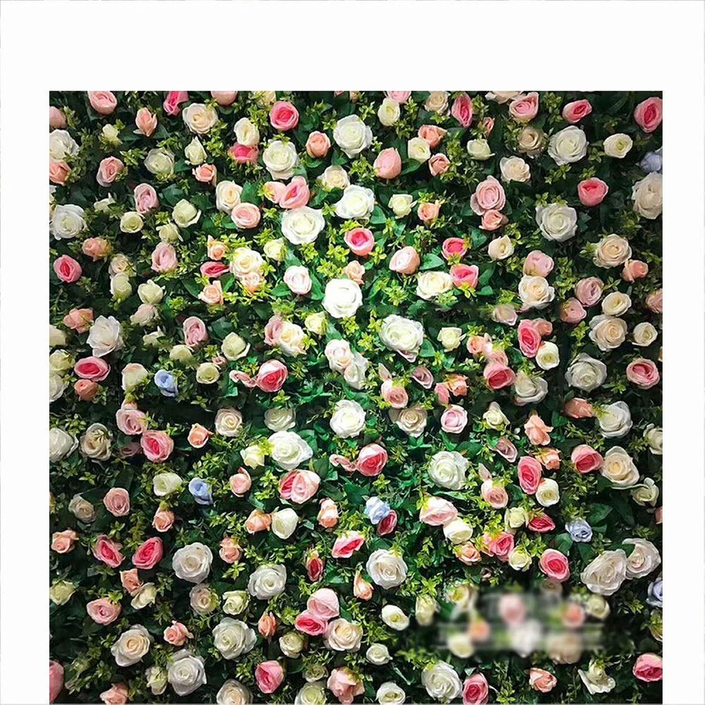 envío gratuito a nivel mundial LVZAIXI Parojo De Flores Artificiales Artificiales Artificiales Decoración De Flores De Alta Simulación. Foto De Boda De Cumpleaos Fondo De Flores De Fondo (Color   A, Talla   50x50cm)  promocionales de incentivo