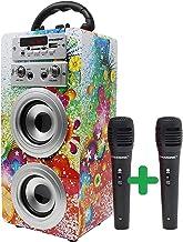 DYNASONIC Bluetooth Lautsprecher für Karaoke Kinder Anlage MP3 Player Boxen..