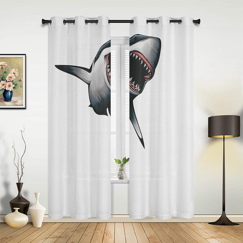 Beauty Decor Window Free shipping Sheer Curtains Living for Bedroom Room Boston Mall Shark