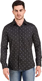 Design Up Men Cotton Printed Full Sleeve Casual/Formal Shirt