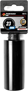 Performance Tool M873 1/2 Drive 6pt Impact Socket, 23mm