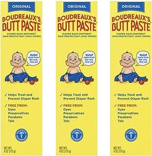 Boudreaux's Butt Paste Diaper Rash Ointment | Original | 4 Ounce (Pack of 3) | Paraben & Preservative Free