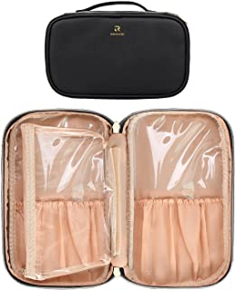 Professional Cosmetic Case Makeup Brush Organizer Makeup Artist Case with Belt Strap Holder Multi functional Cosmetic Bag ...