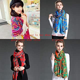 Bufanda Primavera e Invierno Nuevas Gruesas en Invierno, con una impresión de mantón de Moda Larga y cálida Chal (Color : G)