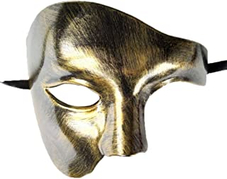 Mens Phantom of The Opera Masquerade Mask Half Face Vintage Roman Venetian Mask