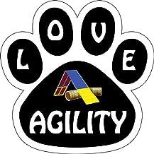 Inkburst Graphics Love Agility Paw Print Car Magnet 5 1/2
