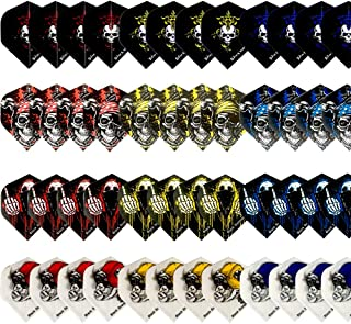 Gallop Chic Darts Flight, 48 Pcs Skull Flights, Standard and Durable PET Dart Feather, Perfect Accessories Equipment Supplies for Soft/Steel Tip Dart Games