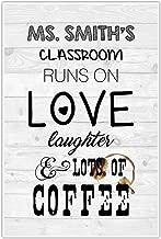 Runs On Love Personalized Classroom Decor School Poster