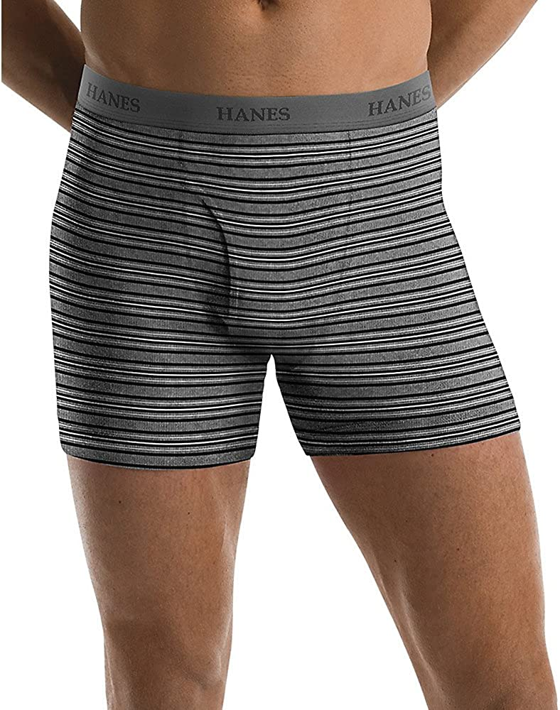 Hanes Men's 5 Pack Ultimate Assorted Striped Boxer Briefs