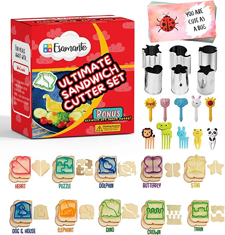 36pc Sandwich Cutter Set For Kids Of All Ages Turn Vegetables Fruits Cheese And Cookie Into Fun Bites Add To Bento Box And Lunch Box Toddlers Boys Girls Safe Easy To Use
