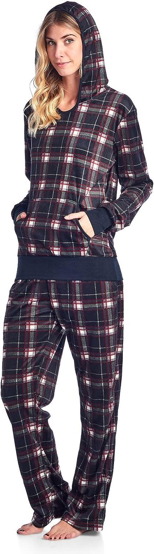 Ashford Brooks Women's Mink Set Hoodie Fleece Ranking TOP8 Our shop most popular Pajama
