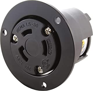 AC WORKS [ASOUL530R] 30A 125V L5-30R Flanged Outlet UL and C-UL Listed