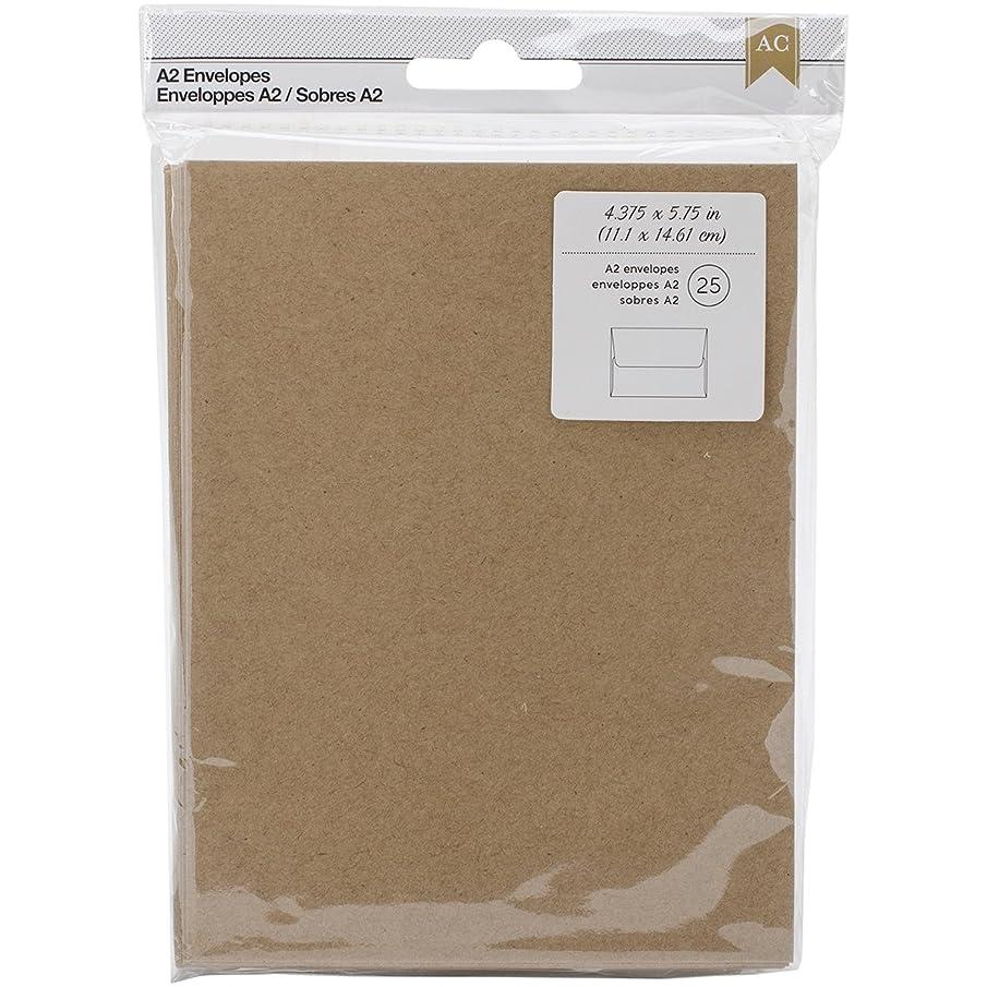 American Crafts 25 Piece 4.375 X 5.75 Kraft Envelopes